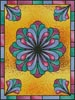 Stained Glass Floral 1 - Cross Stitch Chart