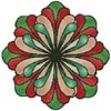 Stained Glass Flower - Cross Stitch Chart