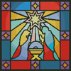 Stained Glass Nativity - Cross Stitch Chart