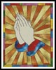 Stained Glass Prayer - Cross Stitch Chart