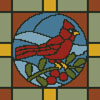 Stained Glass Square 1 - Cross Stitch Chart