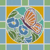 Stained Glass Square 5 - Cross Stitch Chart