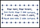 Starlight - Cross Stitch Chart