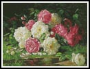 Still life with Roses 3 - Cross Stitch Chart