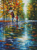 Stroll in Autumn Park (Large) - Cross Stitch Chart