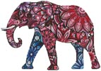 Stylized Elephant - Cross Stitch Chart