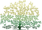 Summer Tree Silhouette - Cross Stitch Chart