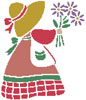 Sunbonnet Sue 1 - Cross Stitch Chart