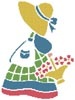 Sunbonnet Sue 2 - Cross Stitch Chart
