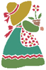 Sunbonnet Sue 3 - Cross Stitch Chart
