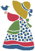 Sunbonnet Sue 4 - Cross Stitch Chart