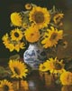 Sunflowers in a Blue and White Vase - Cross Stitch Chart