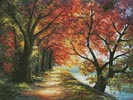 Sunny Autumn Path - Cross Stitch Chart