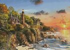 Sunset at Craggy Point - Cross Stitch Chart