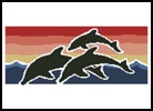 Sunset Dolphins - Cross Stitch Chart