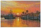 Sunset Harbor - Cross Stitch Chart