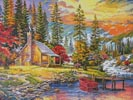 Sunset on the Lake - (Facebook Group) Cross Stitch Chart