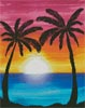 Sunset Palms (Facebook Group) - Cross Stitch Chart