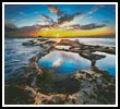 Sunset Rock Pools - Cross Stitch Chart