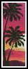Sunset with Palm Trees Bookmark - Cross Stitch Chart