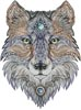 Tattoo Wolf (Large) - Cross Stitch Chart