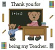 Teacher Teddy Border 2 - Cross Stitch Chart