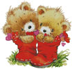 Teddies in Boots - Cross Stitch Chart