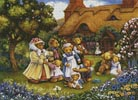 Teddies in the Garden - Cross Stitch Chart