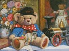 Teddy and Locomotive - Cross Stitch Chart
