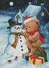 Teddy and Snowman - Cross Stitch Chart