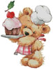 Teddy Chef - Cross Stitch Chart