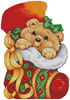 Teddy Christmas Stocking - Cross Stitch Chart
