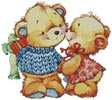 Teddy Kiss - Cross Stitch Chart