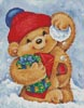 Teddy with Snowball - Cross Stitch Chart