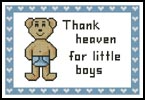 Heaven Boy Sampler - Cross Stitch Sampler
