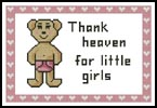 Heaven Girl Sampler - Cross Stitch Sampler