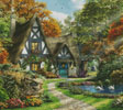 The Autumn Cottage (Cushion) - Cross Stitch Chart