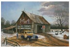 The Barn Painters (Large) - Cross Stitch Chart