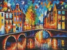 The Bridges of Amsterdam - Cross Stitch Chart