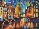 The Bridges of Amsterdam (Large) - Cross Stitch Chart