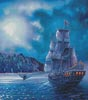 The Call of the Moon (Large Crop) - Cross Stitch Chart