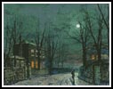 The Old Hall under Moonlight - Cross Stitch Chart