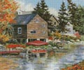 The Red Canoe - Cross Stitch Chart