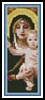The Virgin Bookmark - Cross Stitch Chart