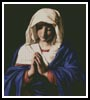 The Virgin in Prayer - Cross Stitch Chart