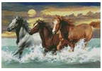 Three Horses - Cross Stitch Chart