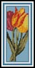 Three Tulips Bookmark - Cross Stitch Chart