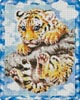 Tiger Cub on a Branch - Cross Stitch Chart