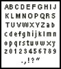 Tiny Alphabet 2 - Cross Stitch Chart