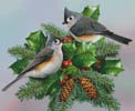 Titmouse and Holly - Cross Stitch Chart
